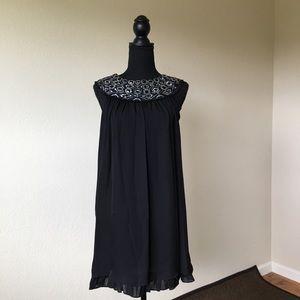 Dresses & Skirts - Alice + Olivier Black strapless beaded silk dress